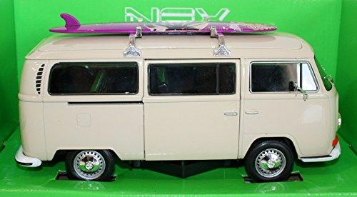 Welly NEX 72 Volkswagen Bus T2 Camper Van Official VW Product CREAM