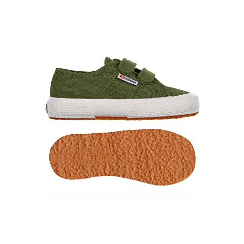 Superga 2750 JVEL Classic Unisex-Kinder Sneakers Military Green