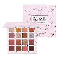 VANELC Professional Eyeshadow Palette Makeup,Matte Shimmer 16 Colors,Highly Pigmented & Long Lasting,Velvet Texture Blendable Eyeshadow Palette (Pink)