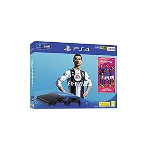 PS4 Console 500GB F ChassisSlim Black + Fifa 19 + 2 DS4 V2