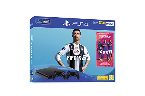 FIFA 19 500GB PS4 Bundle - with second DUALSHOCK 4, FIFA 19 Ultimate Team Icons and Rare Player Pack (PS4)