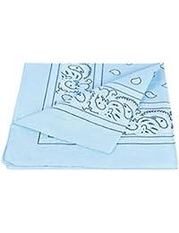 PURECITY® Bandana Original Paisley 100% Coton Foulard Qualité Supérieure / Unité / Lot de 6 / Lot de 12 / 52cm x 52 cm / Tendance Accessoire de Mode Nouvelle Collection