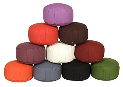 Meditationskissen / Yogakissen Rondo Classic Bio/kbA, Ø ca. 30 cm x H 16 cm, Bezug und Inlett aus 100% Baumwolle aus kbA, Bezug und Inlett (ohne Füllung) maschinenwaschbar bis 30º C