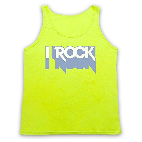 I Rock Hipster Tank-Top Weste Neon Gelb