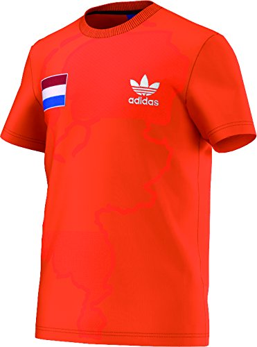 Adidas Netherlands tee - Camiseta para Hombre, Color Naranja, Talla S