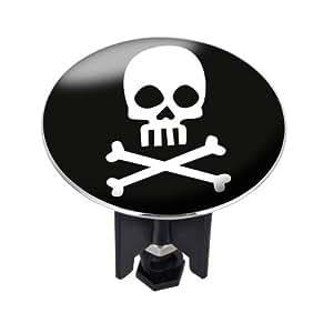 WENKO 21418100 Waschbeckenstöpsel Pluggy® XL Danger - Abfluss-Stopfen, fluoreszierend, für alle handelsüblichen Abflüsse, Kunststoff, 6.2 x 6.6 x 6.2 cm, Mehrfarbig