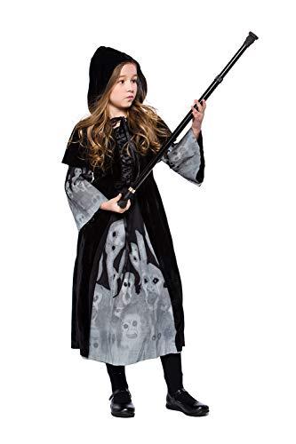 en-Schädel-Kostüm-Lange Schwarze Hexe Cosplay Vampir-Abendkleid Mit Schal,M ()