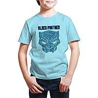 Marvel Boy's Black panther T-shirts, Blue (Light Blue), 3-4 Years