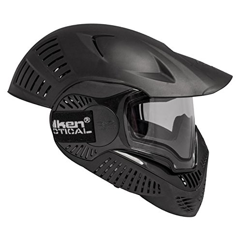 Valken Paintball Maske Annex MI-7 Full Head Thermal, Black, 63138 (Paintball Maske Full Head)