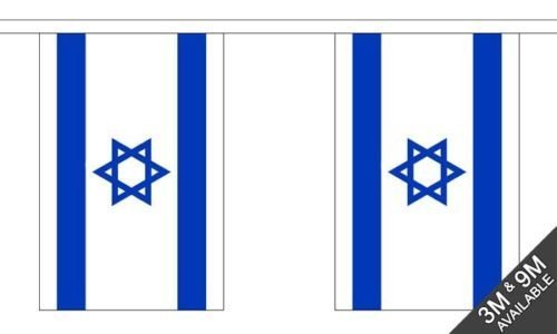 Israele National Bandierine 6 metro, 20 bandiere + 59mm Spilla