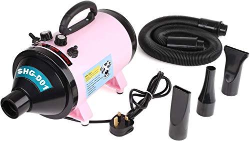 MVPower 2800W Hundefön Tierfön Hundetrockner Pet Dryer Haustier Pflege Ideal zum Trocknen von Haustieren(Pink)