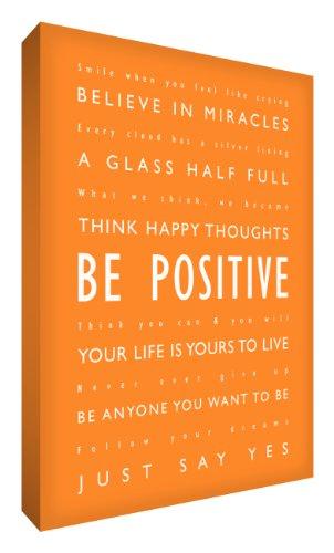 Feel Good Art, 61 x 40,6 cm, Groß, A2, Verschiedene Schriftarten Positive Dick, Keilrahmen, Orange