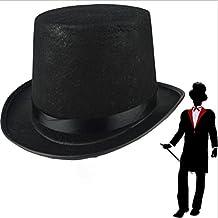 e7376cee45303 Amosfun Black Bowler Hat Sombrero de Mago Disfraz de Disfraz para Hombres  Disfraz de Disfraces de
