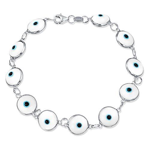 Türkische Multi Weiß Böser Blick Glass Die Perle Armband Für Damen Für Schutz Und Viel Glück 925 Sterling Silber