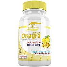 Aceite de Onagra 1000mg x 120 perlas + Vitamina E | Calidad Premium | Prensado en