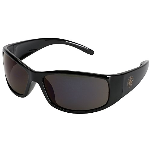 Smith and Wesson Safety Glasses (21303), Elite Safety Sunglasses, Smoke Anti-Fog Lenses with Black Frame by Smith & Wesson