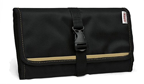 Saco Gadget Organizer Bag For All Gadgets, Power Bank, Cables, Usb Pen Drives, Mobile Phone Accessories Memory Cards, Simcards, DSLR Digital Camera Accessories Organiser / Universal Travel Bag Go Bag /Universal Travel Kit Organizer For Small Electronics And Accessories & Other Digital Devices (Ivory)  available at amazon for Rs.491