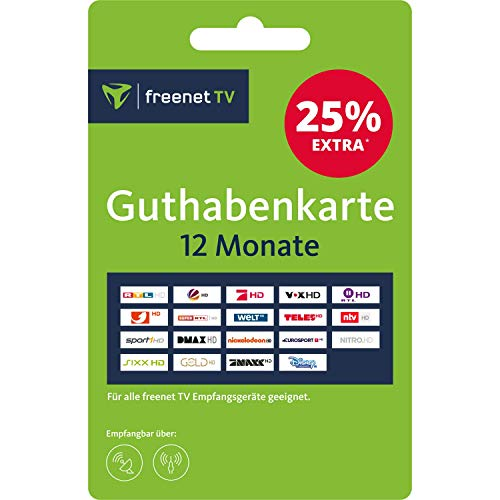 Guthabenkarte zur Verlängerung von freenet TV für 12 Monate (Gutschein, Voucher, Aktivierungskarte)