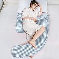 AFQHJ Body shape body maternity pillow, U-shaped pregnancy pillow, side pillow pillow, removable wash pad, washable cotton cover (80cm × 110cm × 170cm) (Color : A)