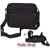Saregama Carvaan Portable Digital Music Player Bag Accessories from Saco Carry Shoulder Pouch for SC02, R20005, SC03, SC01, SCM01 Models - Black