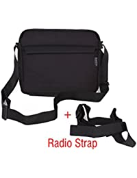 Saregama Carvaan Portable Digital Music Player Bag Accessories from Saco Carry Shoulder Pouch for SC02, R20005, SC03, SC01, SCM01 Models - Black