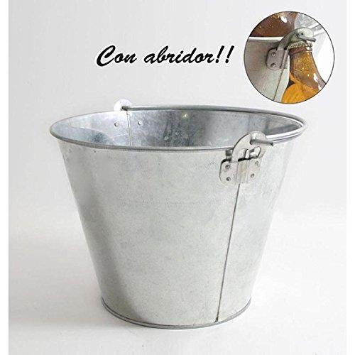 Inde - Cubo Metal galvanizado con abridor 10l