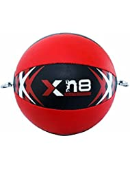 Xn8 Split Leather Double End Red and Black Speed Ball MMA Punching Training by Xn8 Sports