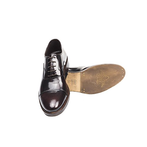 UominiItaliani - Chaussures élégantes en cuir à lacets pour hommes Made in Italy - Mod. 1155 2355 Bordeaux
