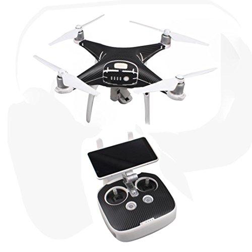 Bescita Body Skin Wrap Aufkleber Aufkleber für DJI Phantom 4 Pro / Pro Drone + Controller (Schwarz) (Gebläse-controller)