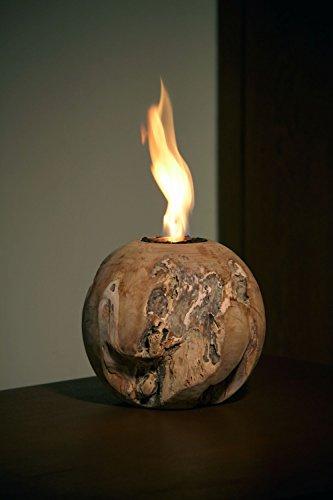 Trendy de Home24 20005 Boule à feu en Bois de Teck Diamètre 30 cm Table Feu/cheminée Boule décorative