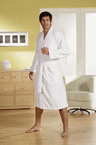 Bademantel in Kimono zwei Handtücher und Saunatuch als Set Grösse 3XL