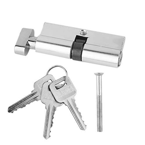 70mm Aluminium Tür Schließzylinder Home Security Anti-Snap 3 Schlüssel Silber Ton