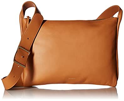 Skagen Anesa Leather Slim Crossbody, Tan