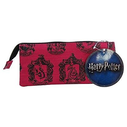 Harry Potter Hogwarts Estuche Portatodo con 3 Cremalleras Escolar Làpices de colores Necesser