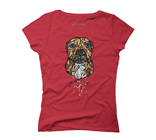 ABSTRACT STAFFORDSHIRE TERRIER Women's Graphic T-Shirt - Design By Humans Red