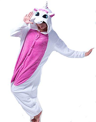 Imagen de kenmont unicornio juguetes y juegos traje disfraz animal ropa de dormir cosplay disfraces pijamas para adulto niños tamaño s 148 160cm, rose ala