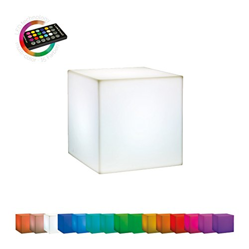 LUMENIO LED Würfel Leuchttisch Leuchtobjekt multicolor 15 verschiedene Farben 40x40x40cm