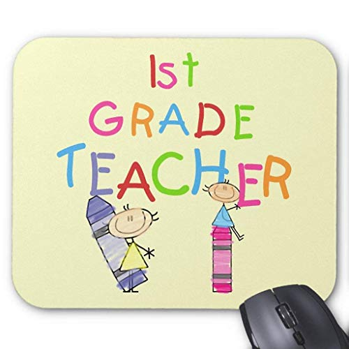 Crayons 1st Grade Teacher Tshirts and Gifts Mouse Pad 18×22 cm