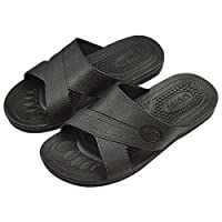 Gaoominy Anti-Static Slippers Clean dust-Free Protective Slippers, Men and Women Clean Working Shoes Soft Bottom Black 44