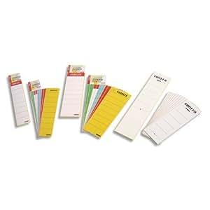 Esselte Etiquettes de Dos Adhésives, pour Classeurs à Levier en Carton Dos de 50 mm, Dimensions (l x h): 37 x 190mm, Sachet de 10 Etiquettes, Blanc, 860001