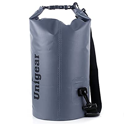 Unigear 2L/5L/10L/20L/30L/40L 600D Dry Bag Sack with Waterproof Phone Case and Long Adjustable Shoulder Strap for Boating, Kayaking, Fishing, Rafting, Swimming, Camping and Snowboarding from Unigear
