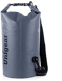 Unigear Sacs Etanches pour Activités de Plein Air et Sports Aquatiques Camping Nautique Kayak Pêche (5 Types de Taille) avec une Pochette Etanche Téléphone