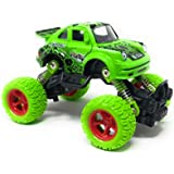 Akrobo 1:34 Elegant Design With 4 Wheel Independent Suspension And Four Wheel Drive 4*4 Pull Back Big Foot Die Cast Toy Car