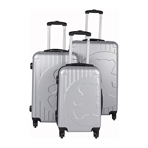 Lulu castagnette set de 3 valises rigide abs 4 roues...