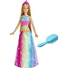 Mattel Barbie FRB12 Barbie Dreamtopia Regenbogen-Königreich Magische Haarspiel-Prinzessin (Blond)