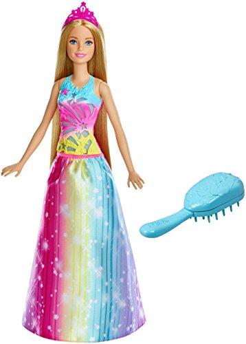 Barbie FRB12 Dreamtopia Regenbogen-Königreich Magische Haarspiel-Prinzessin (Blond)