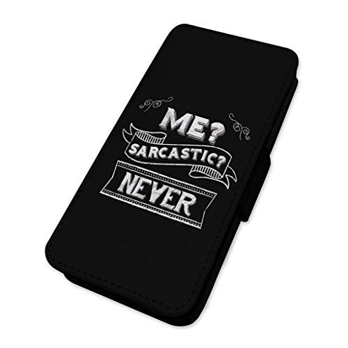 sarcastico mai scherzo–Flip cover in pelle cover Apple Iphone X