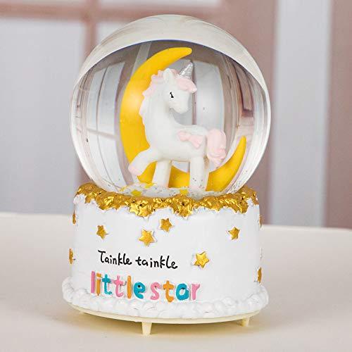 (hokkk Kreative Schneeflocke Für Jungen Und Mädchen Glowing Kristallkugel Spieluhr Geburtstagsgeschenk Freund 12 * 8 cm B)