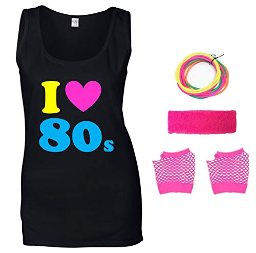 I Love the 80s Tank Top with Accessories, Sizes 8 to 16