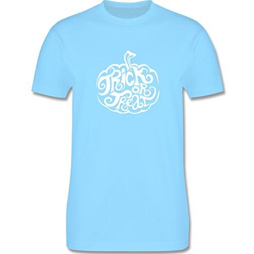 Halloween - Trick or treat - Herren Premium T-Shirt Hellblau